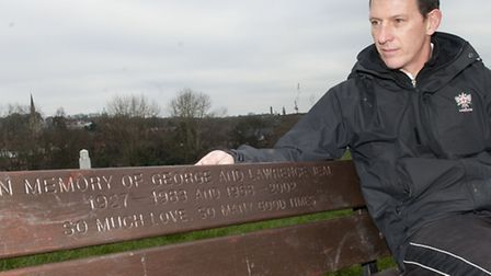 Paul Jeal Manager of swimming on The Heath with a bench dedicated to his father & brother