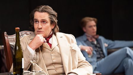 Rupert Everett and Freddie Fox in Hampstead Theatre's sell-out show, The Judas Kiss. Picture: Manuel