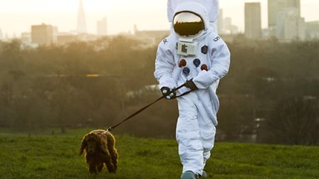 More than 20 astronauts appeared at iconic London landmarks to launch The Lynx Space Academy, as par