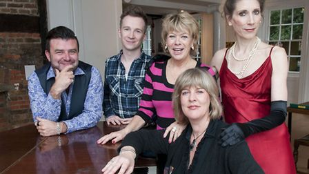 A new season of Cabaret In The House at Lauderdale House. Pictured (back, from left) are Tim McArthu