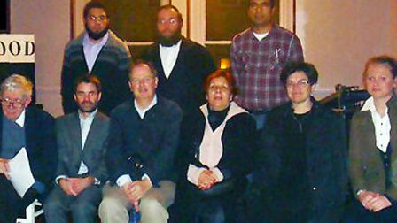 Stamford Hill Neighbourhood Forum, with Chair Linda Kelly in the front row, third from the right