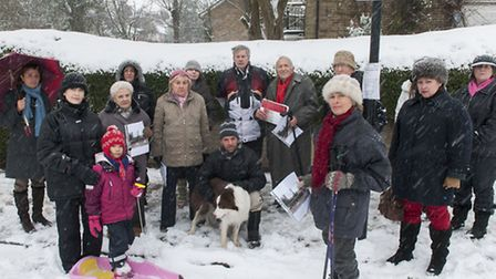 Redington Gardens residents protest against proposed Phone mast