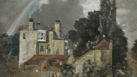 The Grove, or Admiral's House, HampsteadJohn Constable, 1821Oil painting on paper, laid on canva