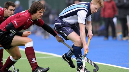Hampstead & Westminster's Will Naylor (right) in action