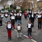 Residents campaign against the proposed CPZ zone in the Rectory Road area. Photo: Caroline Penn
