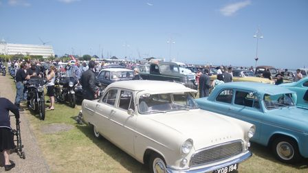 200 classic cars participated in the cruise. Photo: Emma Grant