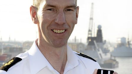 Royal Navy sailor Alan Murrell who was born and grew up in Hackney, recieved a Long Service Good Con