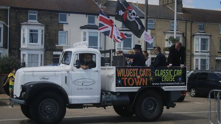 The classic car rally went from Pontins to Lowestoft's Royal Green. Photo: Emma Grant