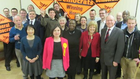 Prison reform campaigner Emily Firth (centre, wearing pink jacket, has been selected as the Liberal