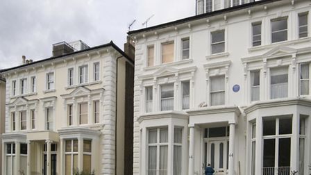 Frederick Delius' former home at 44 Belsize Park Gardens. Picture: English Heritage