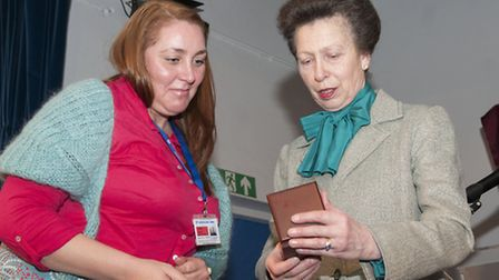 Princess Anne presents The Princess Royal's Medal to Saphire Malaise. Picture: Nigel Sutton