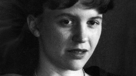 Portrait of Sylvia Plath on display at St Pancras Hospital. Picture: St Pancras Hospital