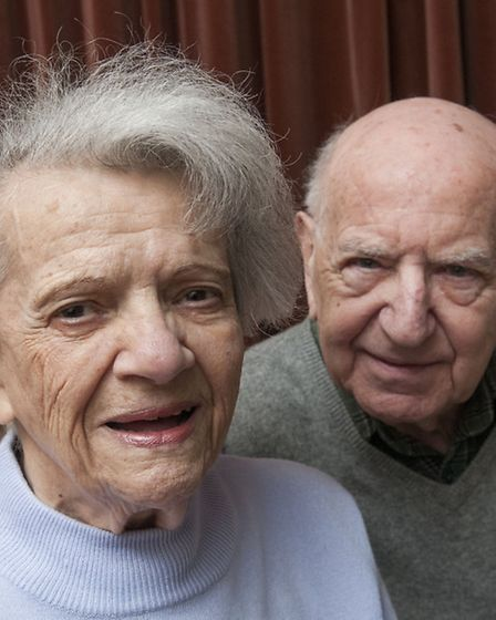 Judith Konrad with her husband Tommy. Picture: Nigel Sutton.