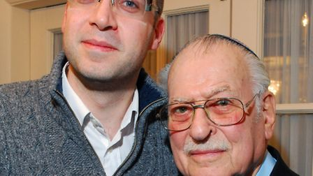 Emil Lowenstein (right) with grandson Dr Ben Levy. Picture: Polly Hancock.