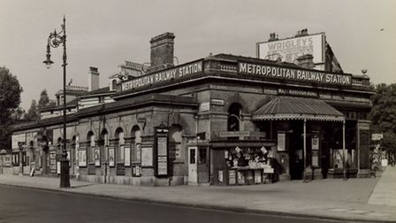 Marlborough Road Underground station on the Metropolitan Line. Exterior view showing the building wi