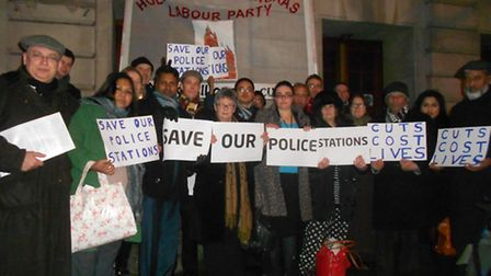 Camden Labour party and residents protest against cuts to policing