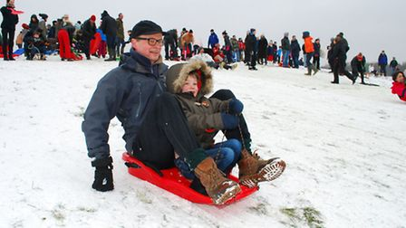 Lift off: Sledging on Parliament Hill