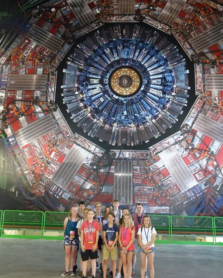 Saint Felix students on their trip to CERN, the world's largest physics research centre.Picture: Sai