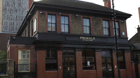 The Pringle of Scotland shop at the new fashion hub in Morning Lane.