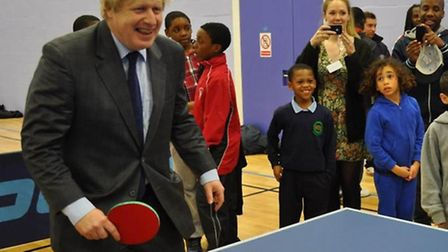 Boris Johnson at the official launch of the Crown and Manor youth club