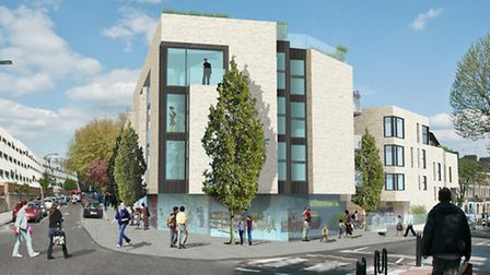 An artist's impression of how the regenerated Chester Balmore estate will look.
