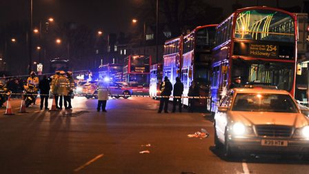Stamford Hill on the night of the accident. Photo credit Karl Piper / KPpictures.co.uk