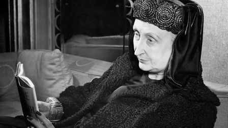 Dame Edith Sitwell, who favoured Plantagenet-style headdress with flowing drapery, ornate rings and