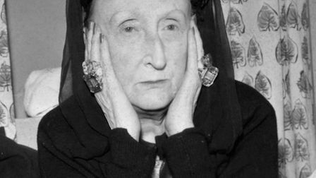 Dame Edith Sitwell, the 69-year-old poet, essayist, novelist and historian, on pictured on her arriv