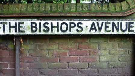 A road sign on The Bishops Avenue. Picture: Nigel Sutton.