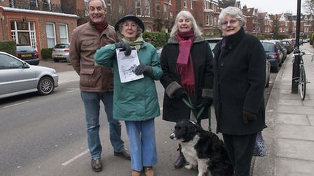 Committee Members of CRASH pictured in Canfield Gardens. Pictured left to right: Peter Symonds, Fran