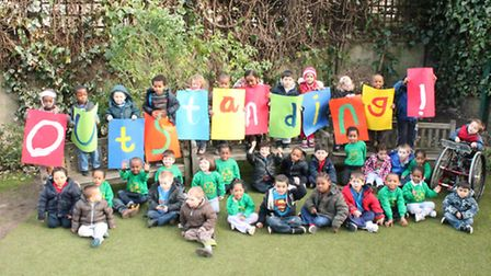 Youngsters at Wentworth Nursery School and Children's Centre