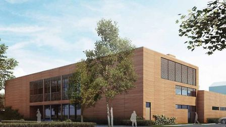 Artist's impression of new Mansfield Bowling Club and leisure centre