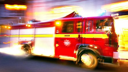 A woman was saved by fire fighters in a dramatic rescue