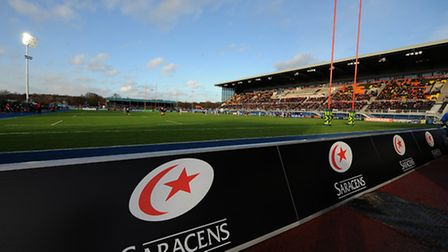 Saracens' new home, Allianz Park, at Barnet Copthall