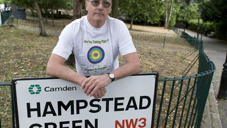 James Leigh, of Camden Butterfly Conservation Society, at Hampstead Green. Picture: Nigel Sutton