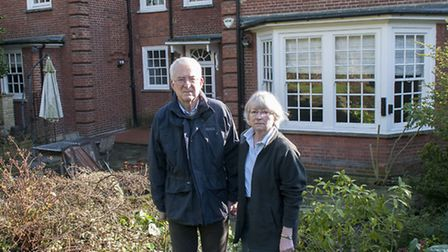 Michele Bryan, 66, and her husband David Bell, 69, are complaining about a development under their h