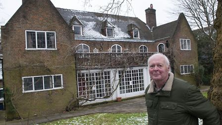 Resident Simon Abbott, 80, would like to see the Tea House kept for community use. Picture: Nigel Su