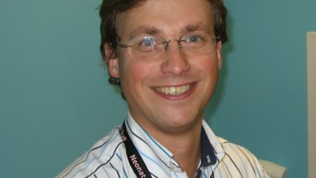 Dr Giles Kendall, consultant neonateologist at UCLH, helped save the life of a baby with 'baby cooli