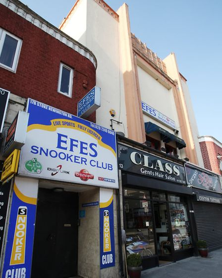 The Efes Snooker Club at 17 Stoke Newington Road.