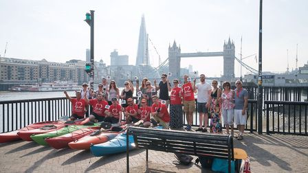 Five days and 150 miles later, the kayakers reached Tower Bridge. Photo: Dorin Vancea.