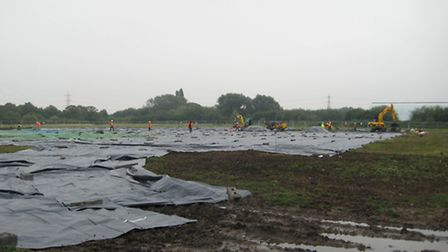 Porter's Fields after the £5m temporary Olympic basketball training facility was deconstructed in Oc