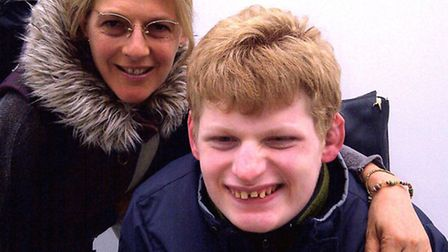 Deborah Gundle and her son Zach who suffers from Angelman syndrome