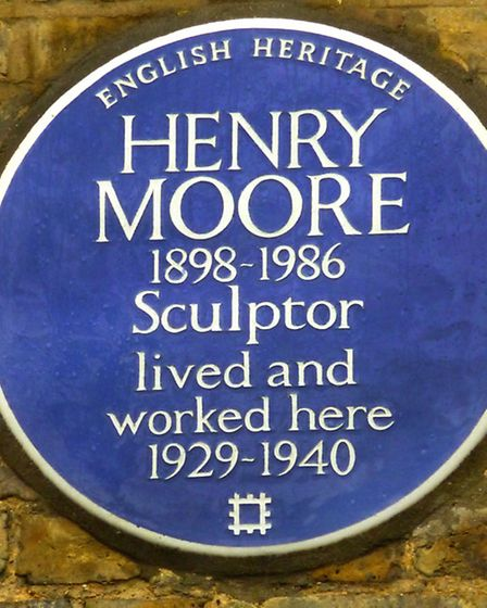 Henry Moore Blue plaque in Parkhill Road. Picture: Nigel Sutton