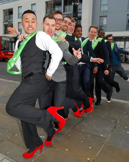 Oxfam's Walk A Mile In Her Shoes campaign supports women in poverty worldwide. Picture: Polly Hancoc