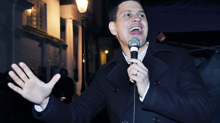 David Miliband turns on the Christmas lights at Primrose Hill Christmas Fair in 2012, where he revea