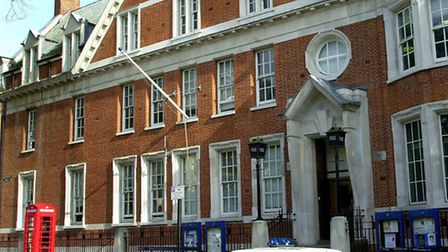 Hampstead police station in Rosslyn Hill.