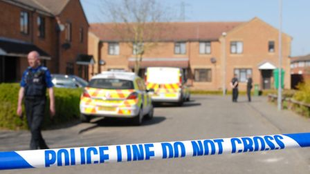The scene of the shoooting of former Acland Burghley pupil Kevin Williams at his Aylesbury home. Pic