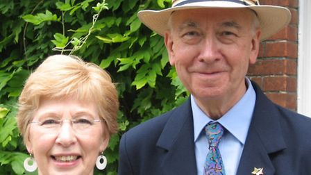John Waller and his wife Barbara. Picture: John Oakes
