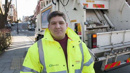 Binman Jose Dias blocked the path of a runaway van hurtling down a hill with his rubbish truck, aver