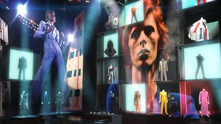 Concept visual of the V&A's David Bowie exhibition